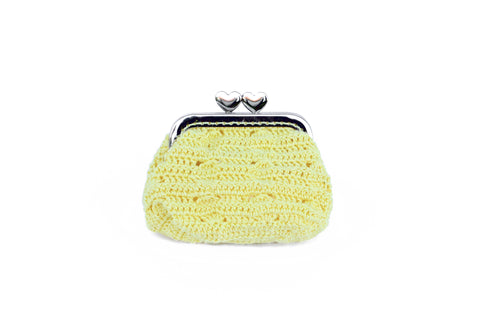 Yellow Crochet Mini Pouch Accessories The Woman Everyday - vegan and ethically made. The Woman Everyday