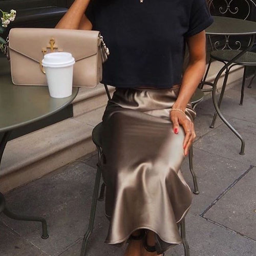 FLORENCE skirt in golden khaki