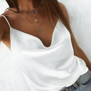 MADISON top in white