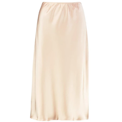 Satin skirt in champagne