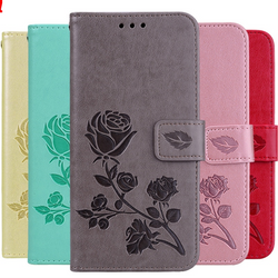 Dual Rose Leather Case For Xiaomi