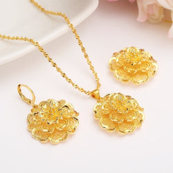 Big Flower Jewelry Set For Women And Girls