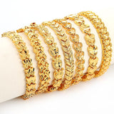 24K Gold Plated Multi shape Bangle Bracelets