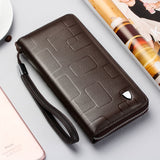 New Genuine Leather Multifunctional Long Wallet