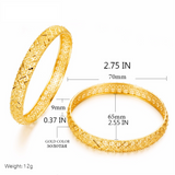 24k Gold Color 1pcs BIG Luxury Ethiopian Bangles For Women