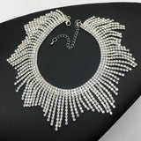 Fashion Rhinestones Tassel Collar Choker Necklaces For Women