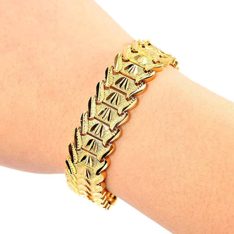 Gold Plated Multi shape Bangle Bracelets