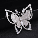 NEW Butterfly Brooches Pins For Women With Shiny Cubic Zirconia