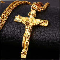 INRI Jesus Piece Crucifix Pendant & Necklace