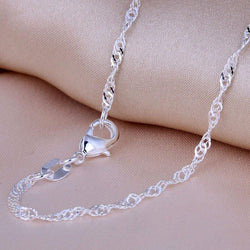 Necklace - Silver Plated Chain Necklace (Keep Your Necklace To Your Heart!)