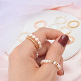3-4mm Mini Small Natural Freshwater Pearl Rings for Women