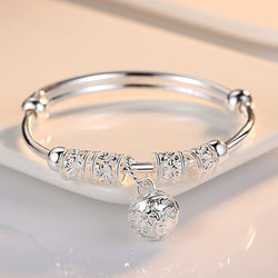 Fashion Silver Charm Artificial Stone Bangle Bracelet for Women