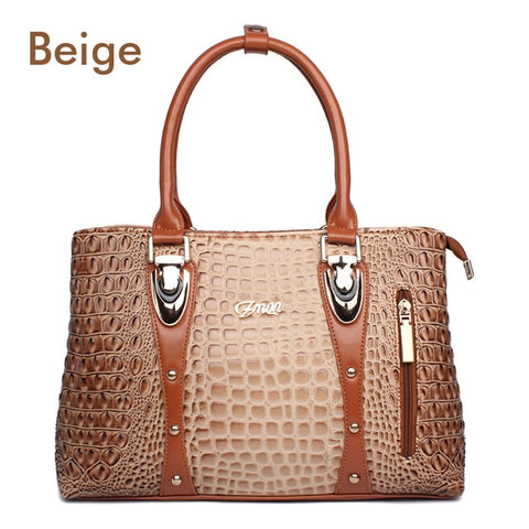 Fashion Crocodile Leather Tote Bags For Women