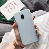 Candy color silicone phone case on for samsung galaxy j7 j6 j5 j4 j3 j2