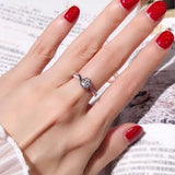 Classic Engagement Ring AAA White Cubic Zircon For Women