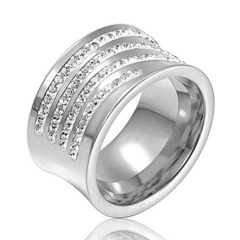 New Original Austrian Crystals Pave Rings For Women