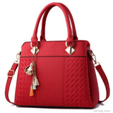 PU Leather Embroidery Tote Bags