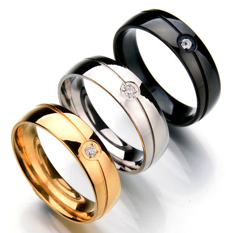 High-Quality Titanium Wedding and Engagement Ring