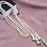 1pc Multilayer Imitation Pearl Bead Necklace