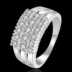 Silver Plated Multi-Stone  Ring For Women