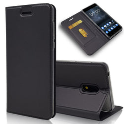 Leather Wallet Flip Cover For Nokia