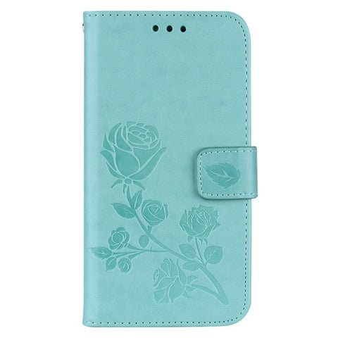 3D Rhinestone Wallet Leather Cover  Flip case For LG X POWER K220DS K220 Cases Stand Card Slot.3D Flower Leather Case For Samsung Galaxy