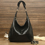 100% Genuine Leather Shiny Serpentine Shoulder Bags