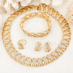 Fashion Dubai Gold Jewelry Sets for Women