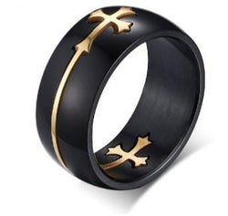 Black Color Stainless Steel Male Ring
