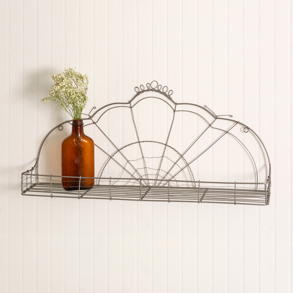 Vintage-Inspired Wire Shelf