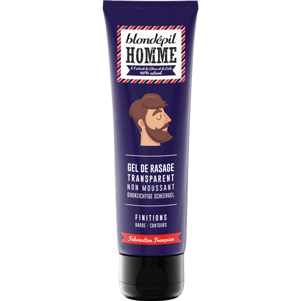 Gel de rasage Transparent - Blondépil homme