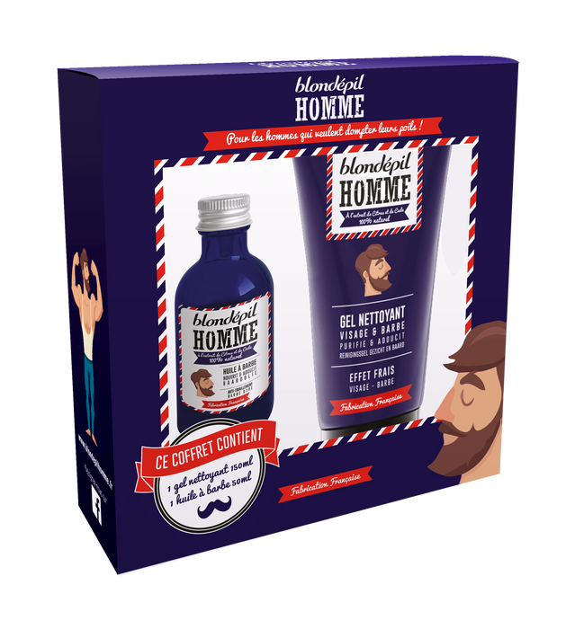 Kit Belle Barbe de Hipster - Blondépil homme