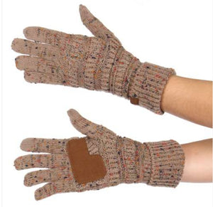 99971b1efcbe8 C.C. Taupe Touch Screen Gloves – That Leggings Chick