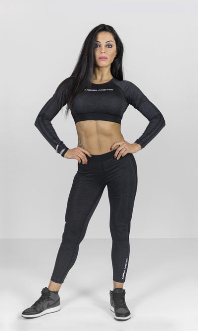 Legacy Crop Top Nero - Animal Ambition