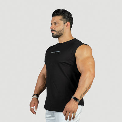 Drop Shoulder T-Shirt Performance - Nero - Animal Ambition