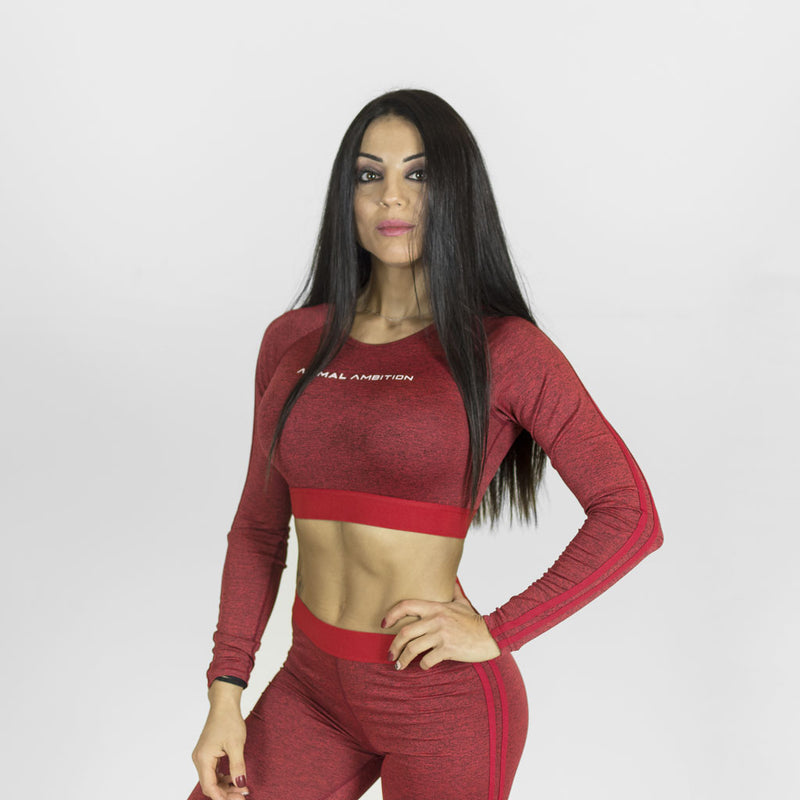 Legacy Crop Top Rosso - Animal Ambition