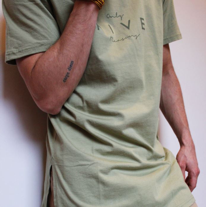 Aube x Oversized Shirt Green