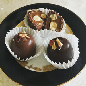 Toasted Oregon Hazelnut & Caramel- 6 piece-Dark Chocolate