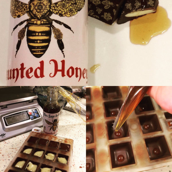 Honey BonBons, Haunted Honey(Ghost Pepper & Sage)-Dark Chocolate