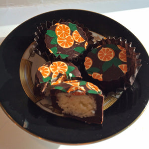 Candied Orange Peel BonBons-Dark Chocolate 6 pieces