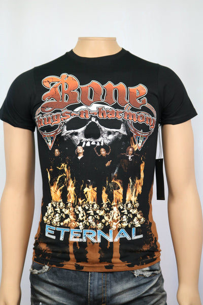 Bone Thugs-n-harmony - Eternal album cover vintage style bleached t-shirt