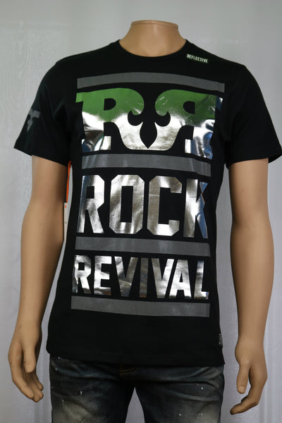Rock Revival Brand SILVER LINING CREWNECK T-SHIRT