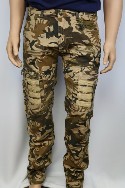 Damati Jeans Brand Tan/Brown/Green Camo Slim Fit Pants