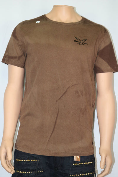 Robins Jeans brand brown logo t-shirt