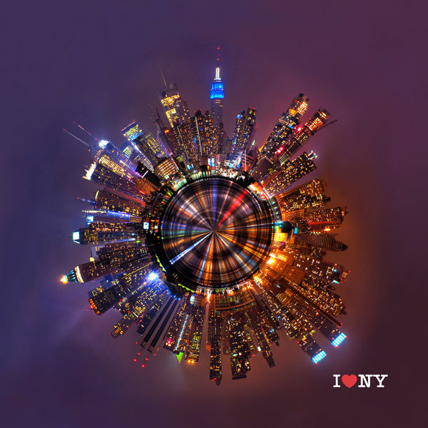 I♥NY | 009 Sweeping Skyline NYC Night Dazzle
