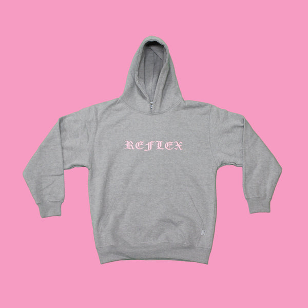 Heather Grey / Pink / Hoodie