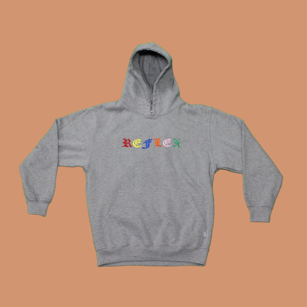 Heather Grey / Rainbow / Hoodie