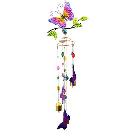 Natures Jewels Butterfly Wind Chime