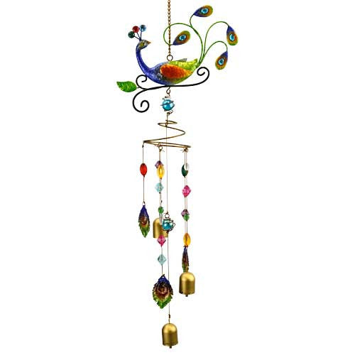 Natures Jewels Peacock Wind Chime