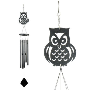 Shadow Owl Wind Chime